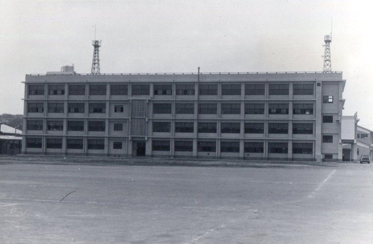 1968年(昭和43年)5月現在の新実習棟完成