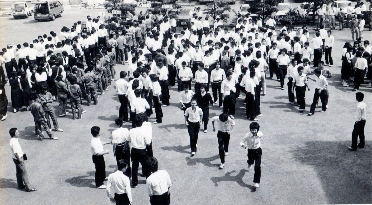 1975年(昭和50年)ごろの避難訓練