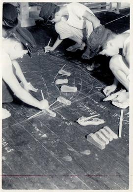 1947年ごろ各科実習風景