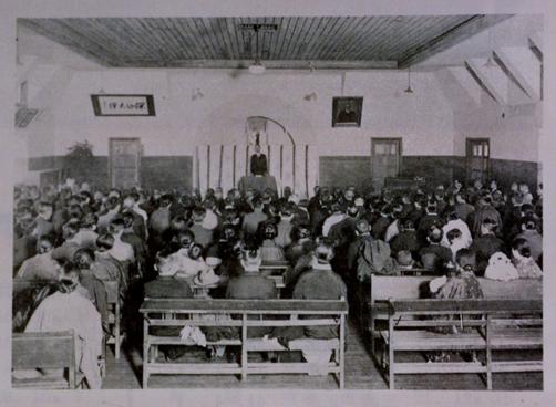 1941年(昭和16年)4月1日 第1期生入学式機械科・電気科各1クラス