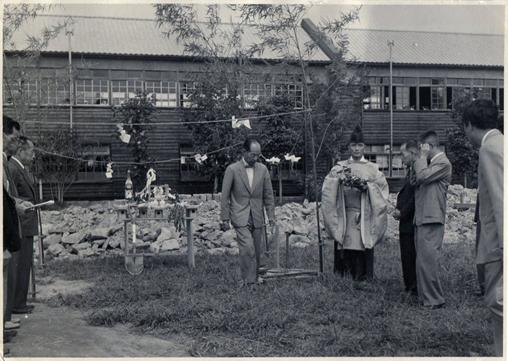 1957 年(昭和32 年)9月旧本館地鎮祭