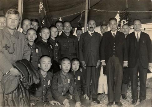 1942(昭和17年)現校地地鎮祭